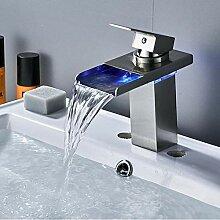 Wasserhahn Led Waschbecken Wasserhahn Wasserfall