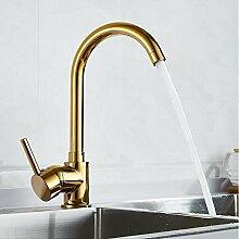 Wasserhahn Luxus Gold Küchenarmatur Gold Messing