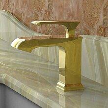 Wasserhahn Luxus Gold Massiv Messing Einhand