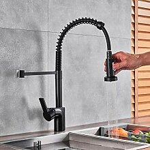 Wasserhahn Matte Küchenarmatur Pull-Down-Auslauf