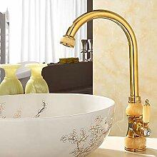 Wasserhahn Messing mit Marmor Küchenhahn, Single