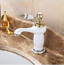 Wasserhahn,Messing Waschbecken Wasserhahn Mit