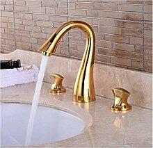Wasserhahn Messing Waschmaschine Drei Löcher Bad