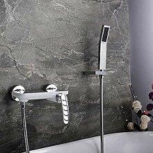 Wasserhahn mit Dusche heiß und kalt Einhand
