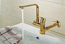 Wasserhahn mit Kupfer Waschbecken Abzieher