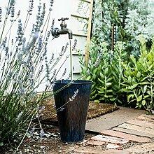 Wasserhahn mit LED Wasserstrahl und Zink Eimer