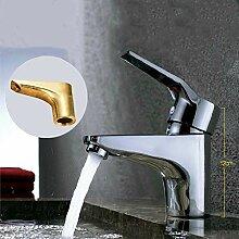 Wasserhahn Mode Messing Chrom Einhand-Waschbecken