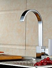 Wasserhahn Moderne verchromten Kupfer Wasserfall Waschbecken Wasserhahn Wasserhahn - Silber