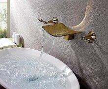Wasserhahn Moderner Pvd Gold Wasserfall