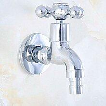 Wasserhahn Poliertem chrom außen wasserhahn
