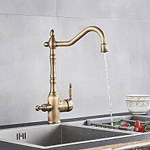 Wasserhahn Schwarz Golden Küchenarmatur Reines