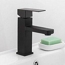 Wasserhahn Schwarzes Quadrat Waschbecken