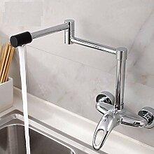 Wasserhahn Universal-Wand-Küchenarmatur Mit