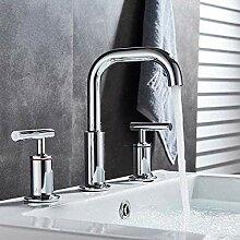 Wasserhahn Verchromtes Waschbecken mit zwei
