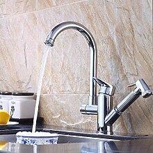 Wasserhahn warmes und kaltes Wasser Spüle