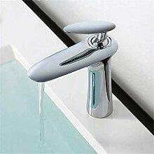Wasserhahn Waschbecken Mixer Chrom Finish Einhand