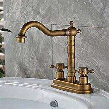 Wasserhahn Waschbecken Mixer Luxus Antik Messing