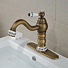 Wasserhahn Waschbecken Mixer Massiv Messing Deck
