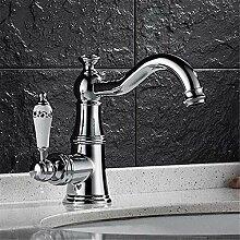 Wasserhahn Waschbecken Mixer Messing mit Diamant