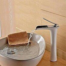 Wasserhahn Waschbecken Mixer Wasserfall Messing