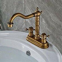 Wasserhahn Waschbecken Mixerolid Messing Antik