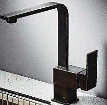 Wasserhahn Waschbecken Schwarzer Küchenarmatur