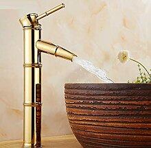 Wasserhahn Waschbecken Vergoldetes Kupfernes