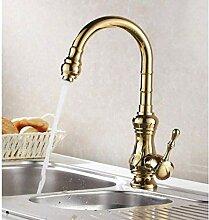 Wasserhahn Waschbecken Wasserhähne Poliert Golden