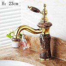 Wasserhahn Waschtischarmatur Jade Kupfer Gold
