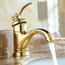 Wasserhahn,Waschtischarmaturen Goldene Moderne