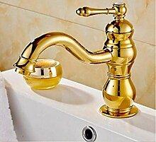 Wasserhahn Waschtischarmaturen Wasserhahn Gold