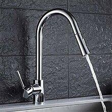 Wasserhahn Waschtischmischer ausziehbarer Auslauf