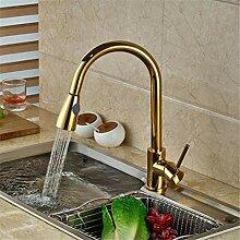 Wasserhahn Waschtischmischer Gold Messing Singel