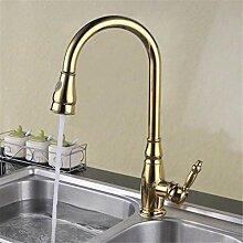 Wasserhahn Waschtischmischer Gold Pull