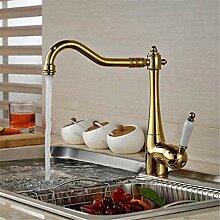 Wasserhahn Waschtischmischer küchenarmatur Golden