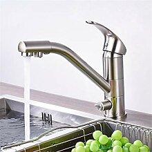 Wasserhahn Waschtischmischer nickel Gebürstet