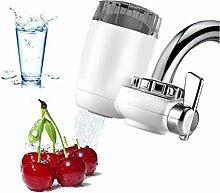 Wasserhahn Wasserfilter, Fashionbabies Wasserfilter für Wasserhahn mit 7 Adapter Wasserfilter Wasserreiniger für Küche Trinkwasser mit Keramischen Filterpatrone - weiß