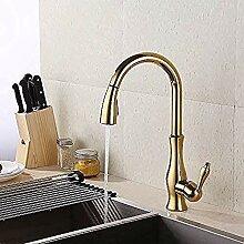 Wasserhahn Wasserhahn Gold Messing Pull Down