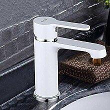 Wasserhahn Wasserhahn weiß Badezimmer Messing