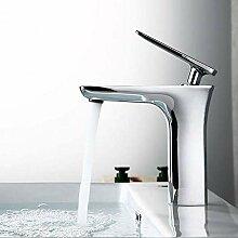 Wasserhahn,Weiß + Chrom/Matt Schwarz/Chrom