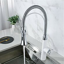 Wasserhahn Weiß Küchenarmatur Seitensprühgerät