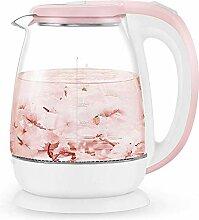 Wasserkocher Pink 1.8l Glas Automatik Wasserkocher