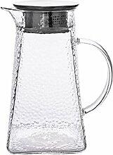 Wasserkocher Teekanne 1300 ml Borosilikatglas