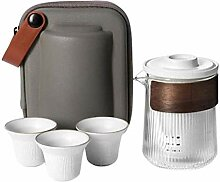 Wasserkocher Teekanne Porzellan Travel Tee Set mit