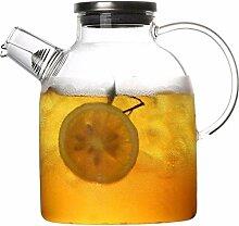Wasserkrug Glas Teekanne Krug mit Deckel Iced