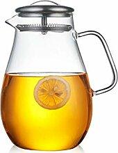 Wasserkrug Glaskaraffe Krug mit Deckel Glaskanne
