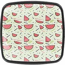 Wassermelonen-Muster, quadratische Knöpfe,
