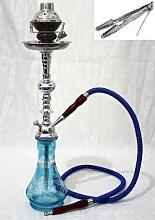 Wasserpfeife 55,9cm blau 1Schlauch Shisha hoch