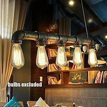 Wasserrohr Lampe Vintage Pendelleuchte Hängelampe