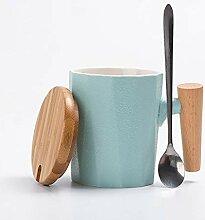 Wasserschale Kreative Holzgriff Keramik Becher